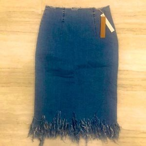 NWT Mustard Seed Jean skirt